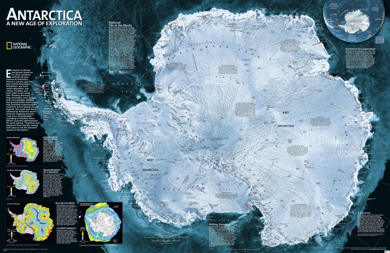 Antarctica Satellite Map Custommadedigitalart - Hd satellite map
